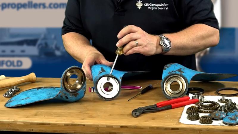 Autoprop h6 rebuild bearing removal 4