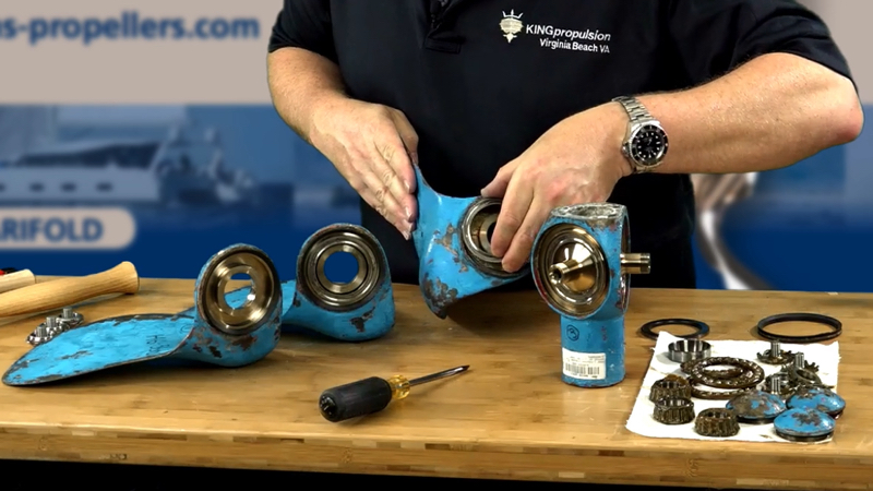 Autoprop h6 rebuild bearing removal 5
